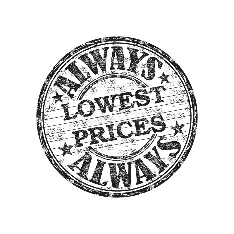 Altijd laagste prijzenzegel vector illustratie