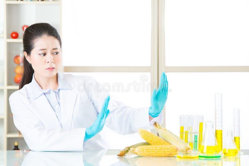 Altijd levende zegt het verblijf nr aan gmo chemisch voedsel royalty-vrije stock afbeelding
