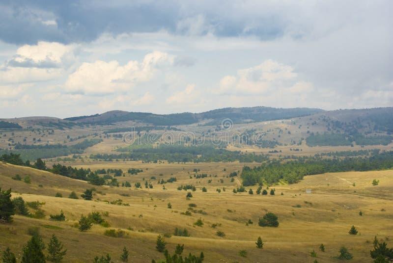Altiplanicie de la montaña imagen de archivo libre de regalías