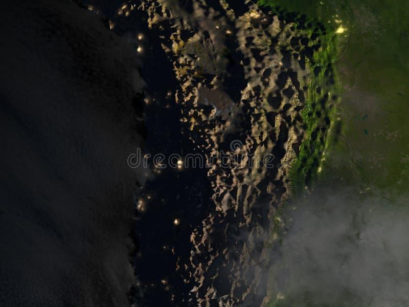 Altiplano in de Andes bij nacht op aarde vector illustratie