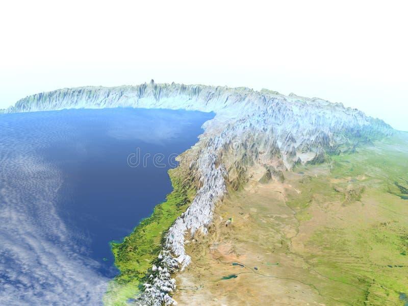 Altiplano in de Andes op aarde royalty-vrije illustratie