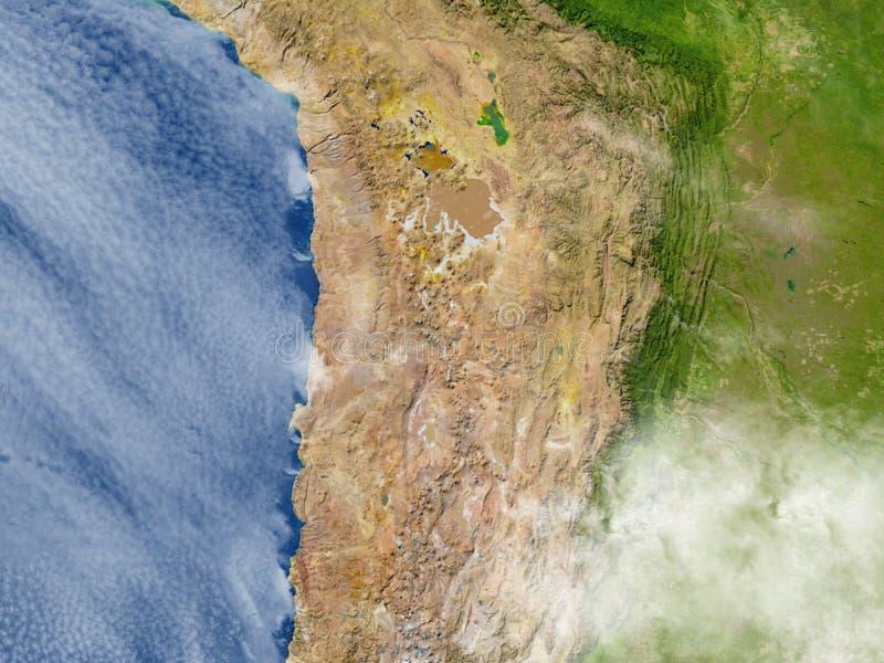 Altiplano in de Andes op aarde vector illustratie