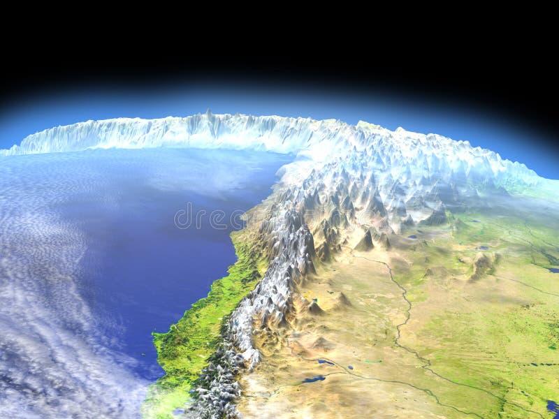 Altiplano in de Andes van ruimte royalty-vrije illustratie