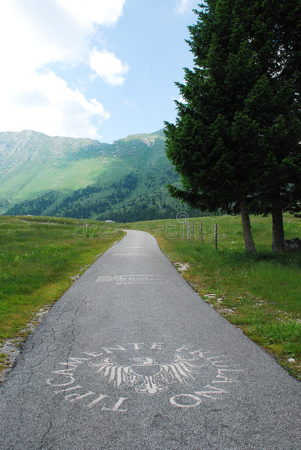 Altiplano de Montasio. June 11th 2015 - Altiplano de Montasio, Friulian Alps, Italy. The 'Tipicamente Friulano' ('Typically Friulian') label (used by the region stock photo