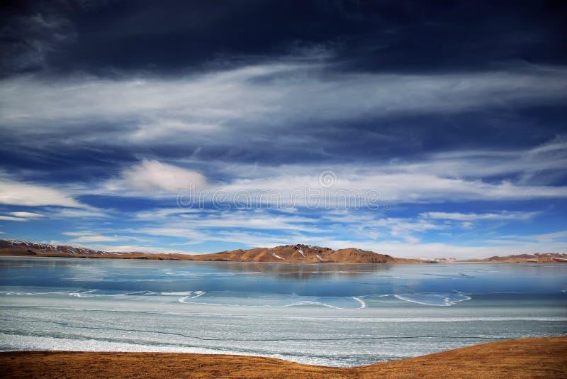 altiplano jezioro fotografia royalty free
