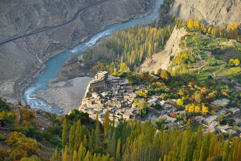 Altis Fort. Beautiful Landscape of Hunza Valley in Autumn season. Beautiful Landscape of Hunza Valley in Autumn season. Northern Area of Pakistan royalty free stock images