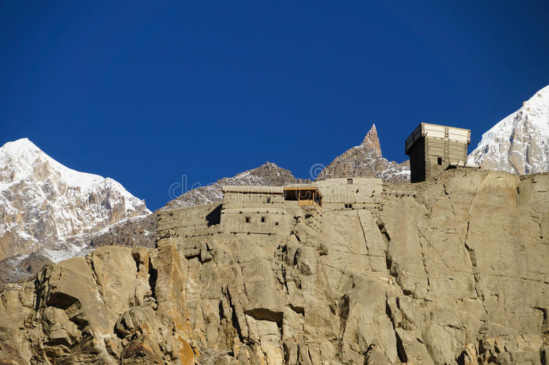 Altit Fort and Lady Finger in Northern Pakistan stock image