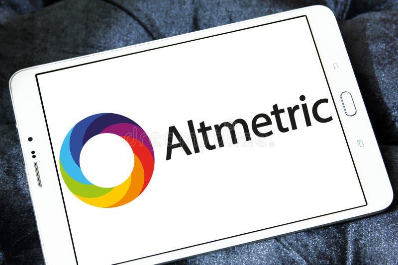 Altmetric firmy logo fotografia stock