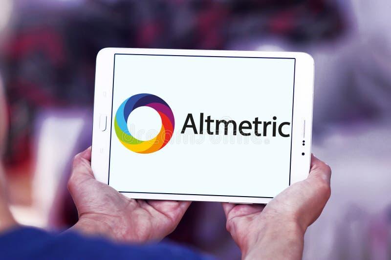Altmetric firmy logo zdjęcia stock