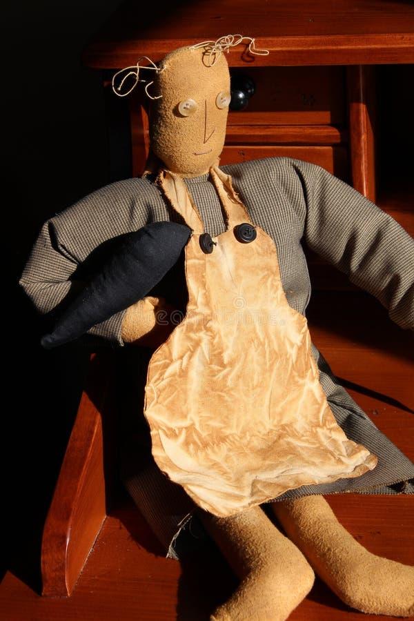 Altmodische Hand-stiched Puppe lizenzfreie stockbilder