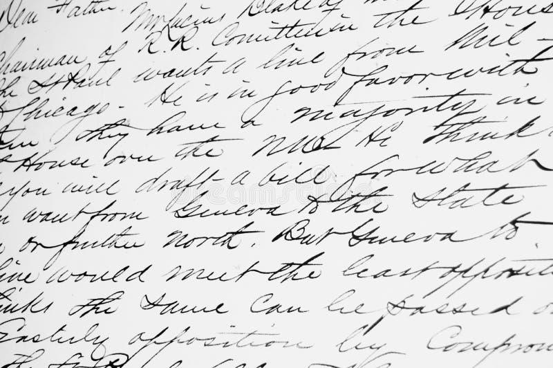 Altmodische Handschrift stockfotografie