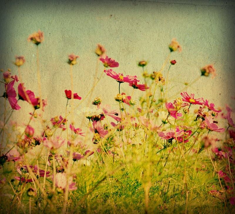 Altmodische künstlerische Blume lizenzfreies stockfoto