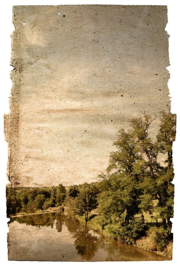 Altmodische künstlerische Landschaft stockfotos