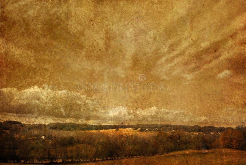 Altmodische Landschaft lizenzfreie abbildung