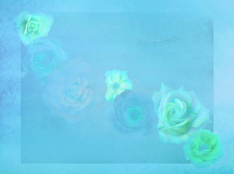 Altmodische Rosen auf grunge buntem Hintergrund vektor abbildung