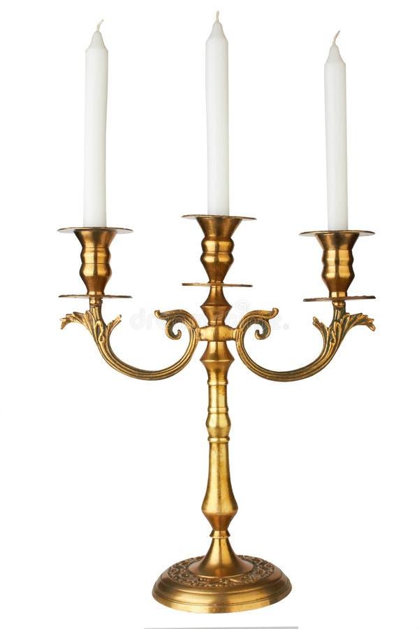 Altmodischer barocker eleganter Kerzenhalter stockfoto