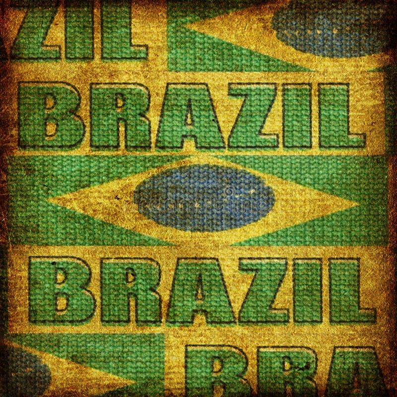 Altmodischer Brasilien-Hintergrund lizenzfreies stockbild
