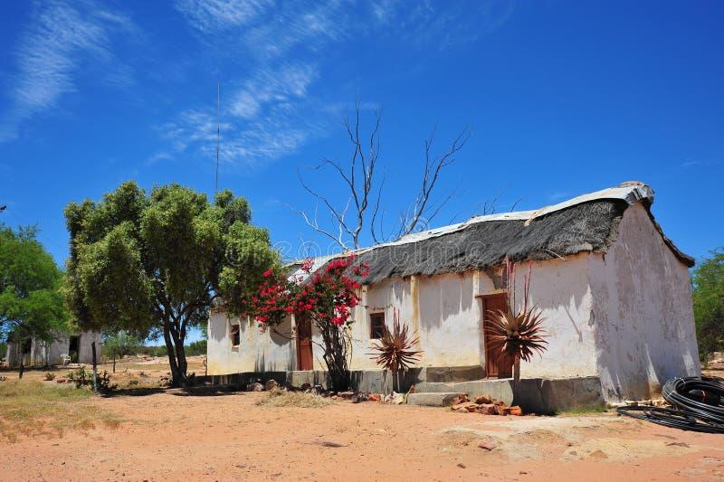 Altmodisches Bauernhof-Haus stockfoto