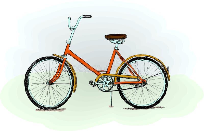 Altmodisches Fahrrad - Abbildung vektor abbildung
