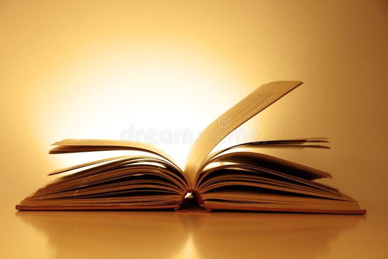 Altmodisches geöffnetes Buch lizenzfreie stockfotos