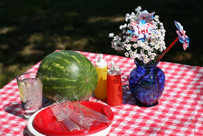 Altmodisches Picknick stockfoto