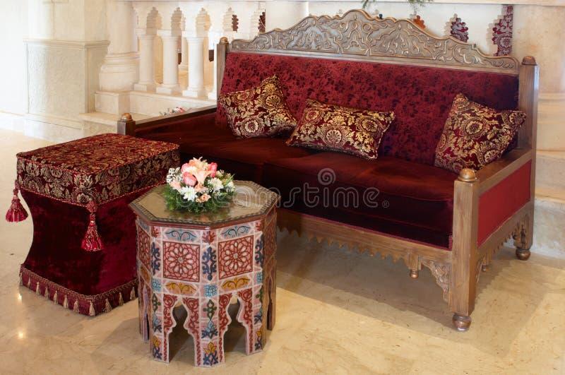 Altmodisches Set Möbel stockbilder