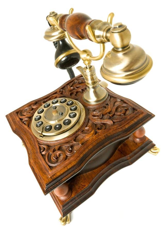 Altmodisches Telefon der Kommunikation getrennt stockfotos