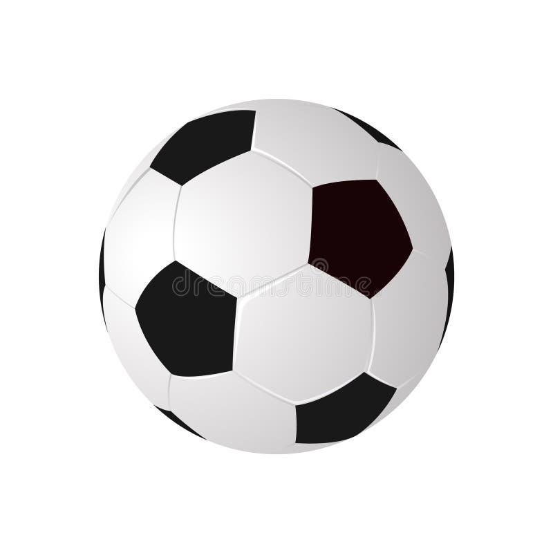 Alto balón de fútbol del vector del detalle libre illustration