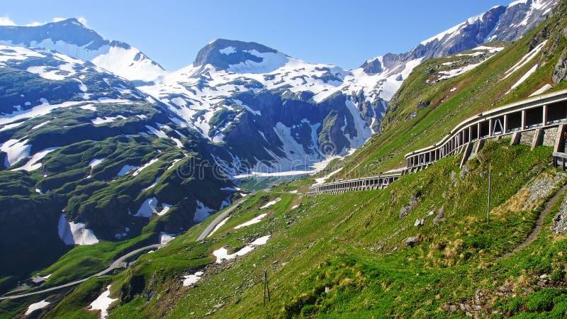 Alto camino alpino de Grossglockner. Austria imagen de archivo libre de regalías