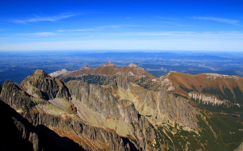 Alto canto principal y Belianske Tatras, Eslovaquia de Tatras fotos de archivo libres de regalías