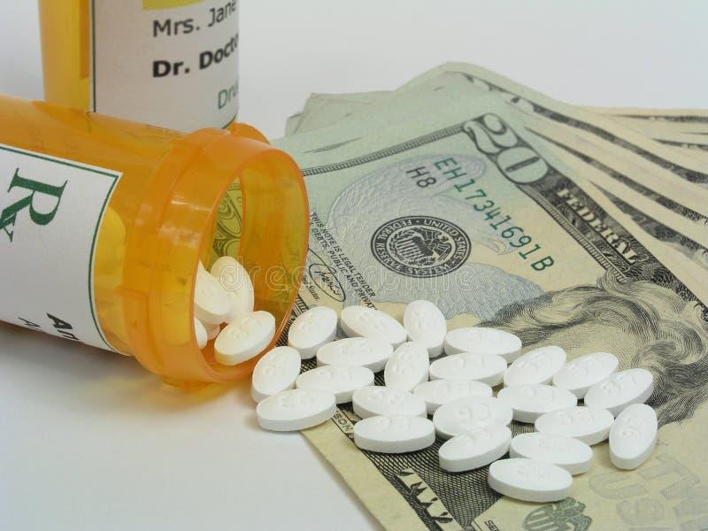 Alto costo dei farmaci da vendere su ricetta medica immagini stock
