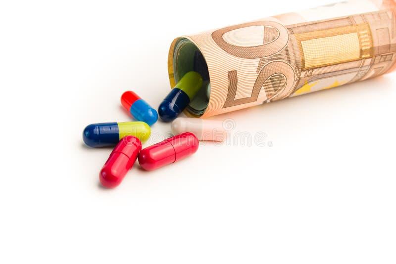 Alto costo di medicina immagine stock
