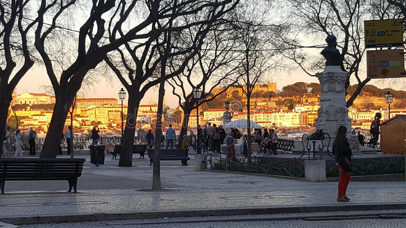 Alto de Bairro - Lisbonne - Portugal images libres de droits