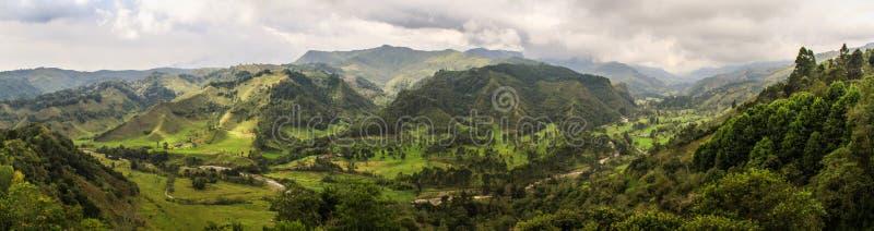 Alto de la Cruz Viewpoint, Salento, Eje Cafetero, Colombia stock afbeeldingen