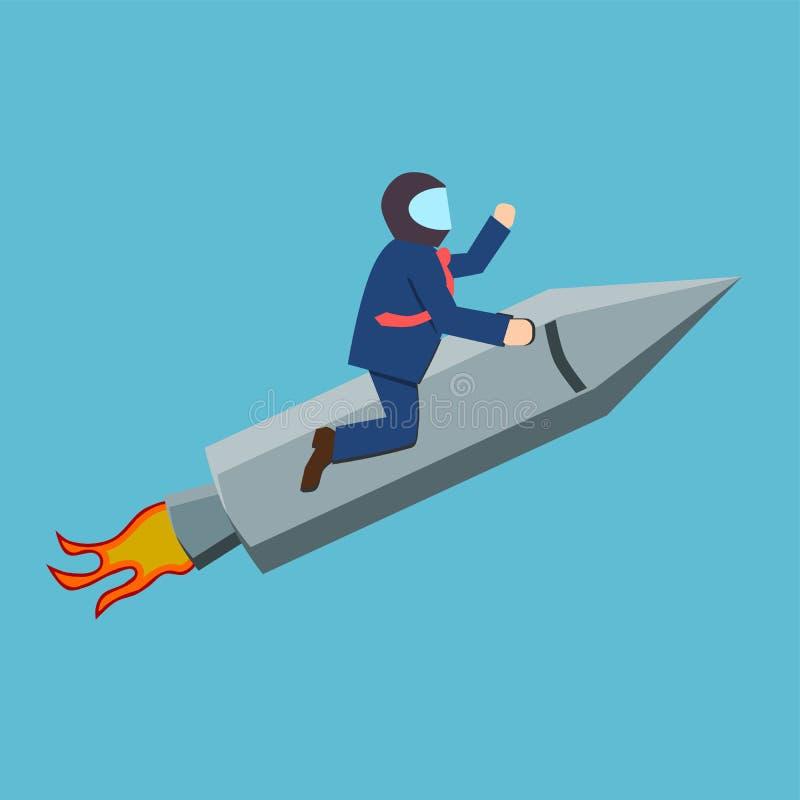 Alto del objetivo o concepto del éxito ilustración del vector