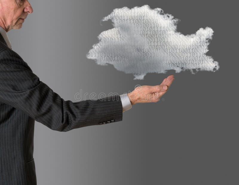 Alto diretivo com computação de flutuação da nuvem imagem de stock royalty free