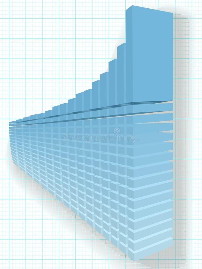 Alto disegno finanziario del diagramma di sviluppo di profitto di aumento 3D royalty illustrazione gratis
