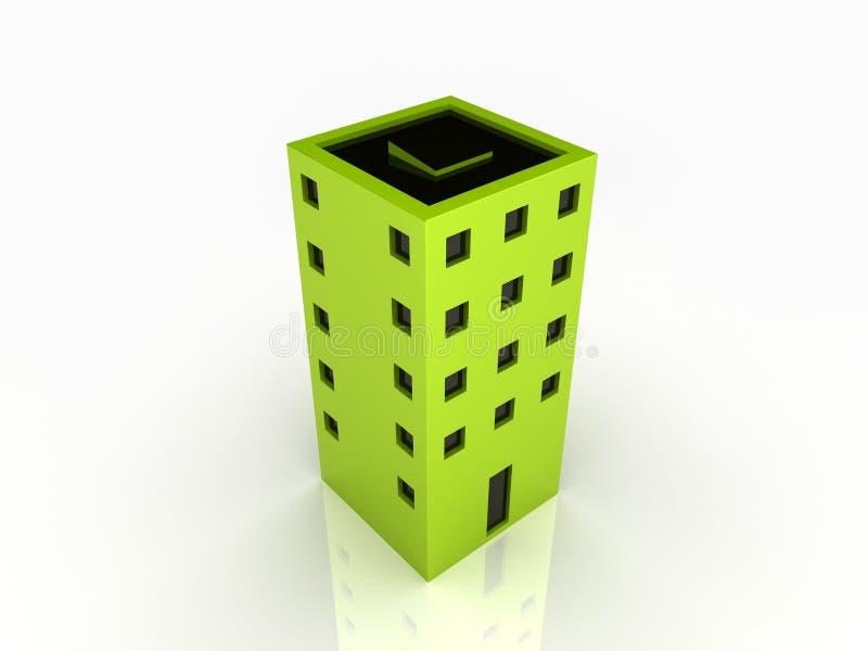 Alto edificio stock de ilustración