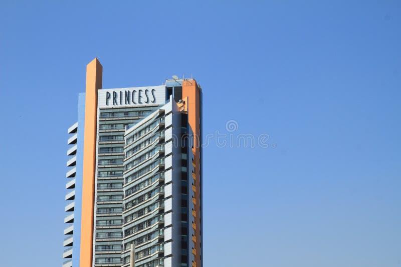 Alto edificio de la princesa del hotel foto de archivo
