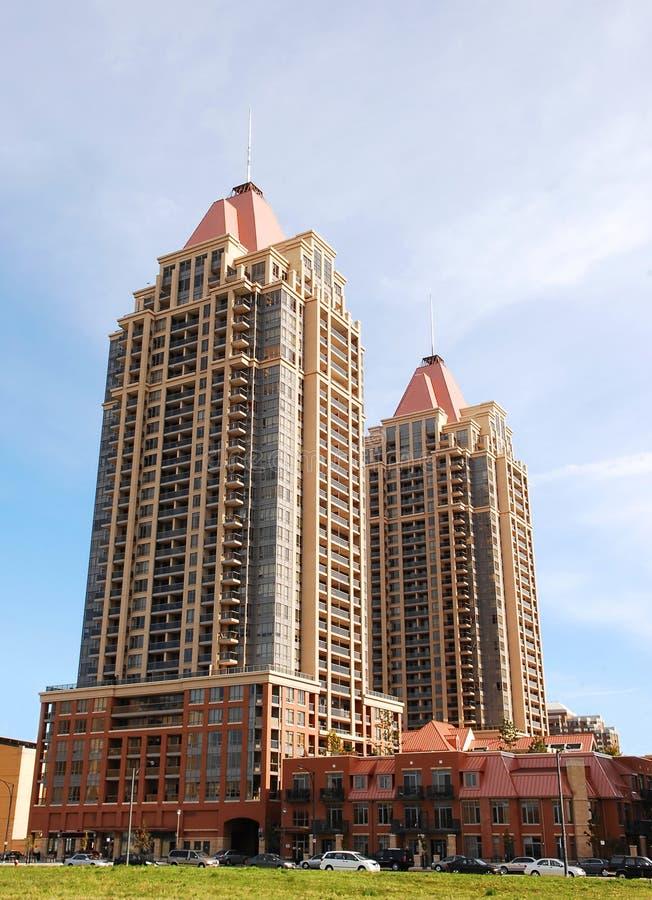 Alto edificio de la subida dos. fotografía de archivo
