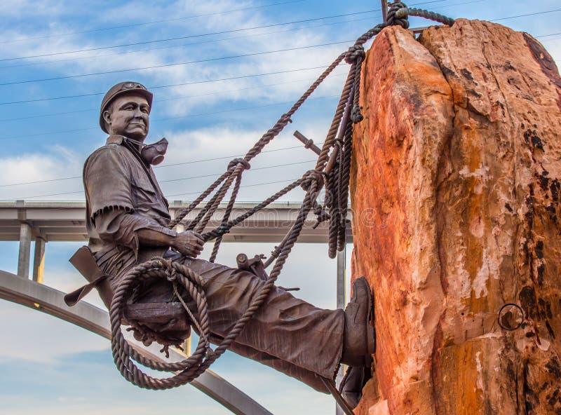 Alto escalador Joe Kine de la Presa Hoover foto de archivo