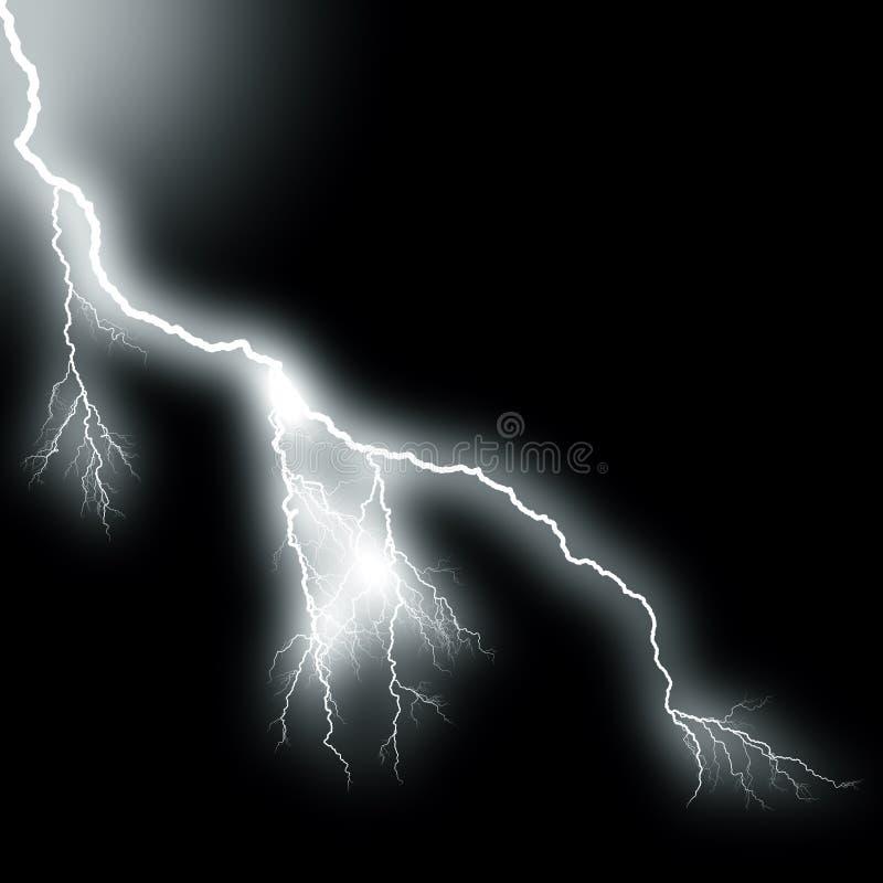 Alto flash di ramificazione del lampo illustrazione vettoriale