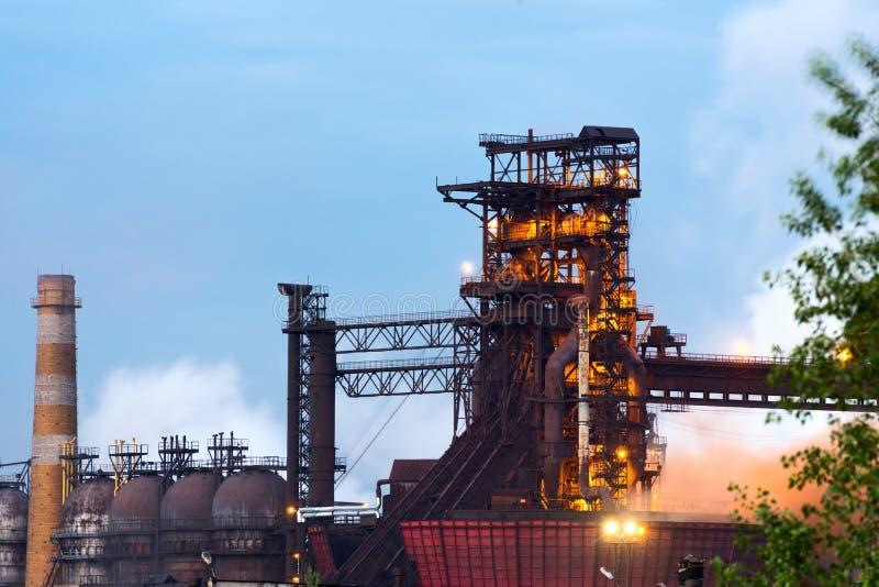 Alto-forno, produção do ferro, produção metalúrgica imagens de stock royalty free