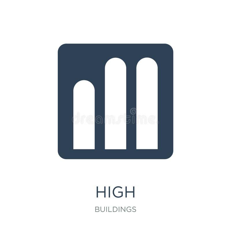 alto icono en estilo de moda del diseño alto icono aislado en el fondo blanco símbolo plano simple y moderno del alto icono del v libre illustration