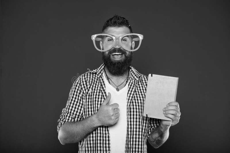 Alto luminoso il vostro giorno Legga questo libro Senso di umore e comico Storia divertente Lo studio ? divertimento Il libro div immagine stock