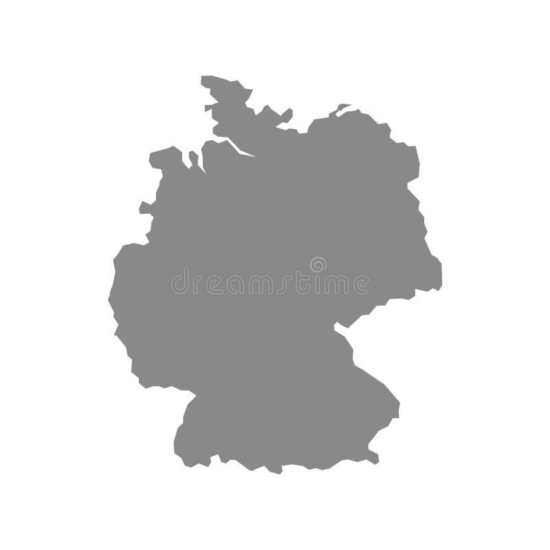 Alto mapa detallado del vector - Alemania stock de ilustración