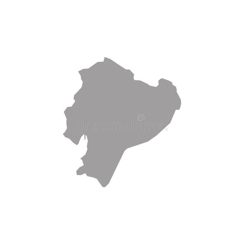 Alto mapa detallado Ecuador del vector stock de ilustración