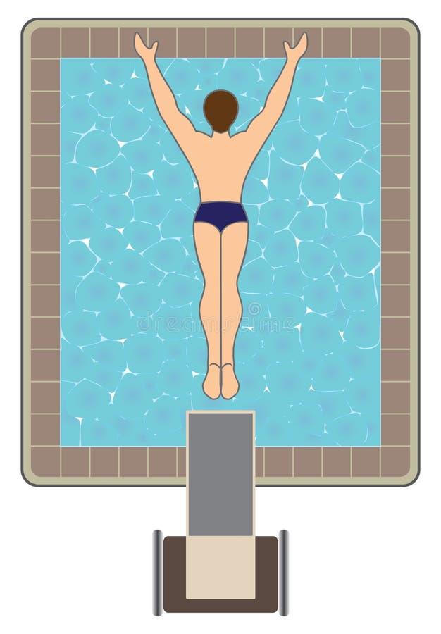 Alto operatore subacqueo illustrazione vettoriale