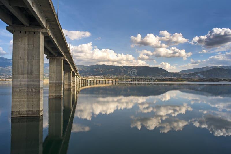 Alto puente de Servia-Kozani imagen de archivo libre de regalías