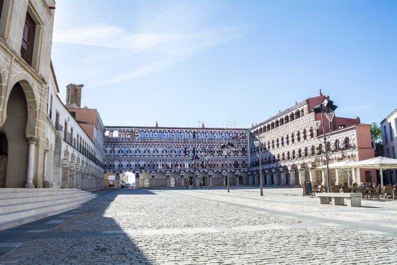 Alto quadrato (plaza Alta, Badajoz), Spagna immagini stock